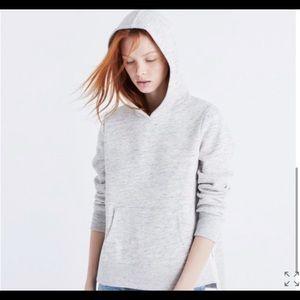Madewell Side Slit Hoodie Swearshirt Gray Size M